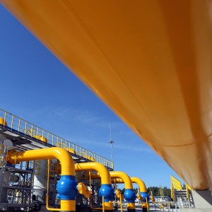 Part of the equipment of modern compressor station